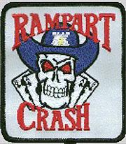 Simbolo della sezione anti-gangs della LAPD Rampart Station, la CRASH UNIT