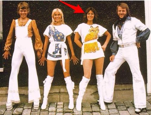 Anni-Frid Lyngstad con gli ABBA